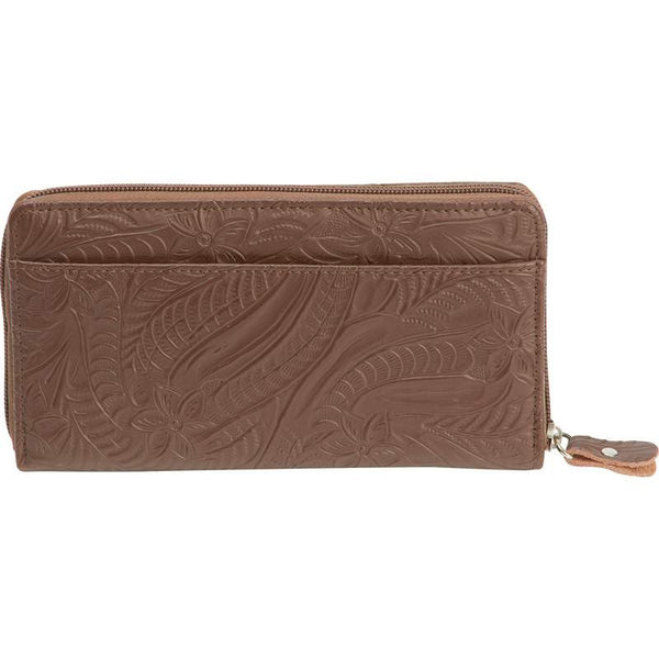 Brown Solid Genuine Leather Ladies Wallet - Leather Wallet Large Purse Shop