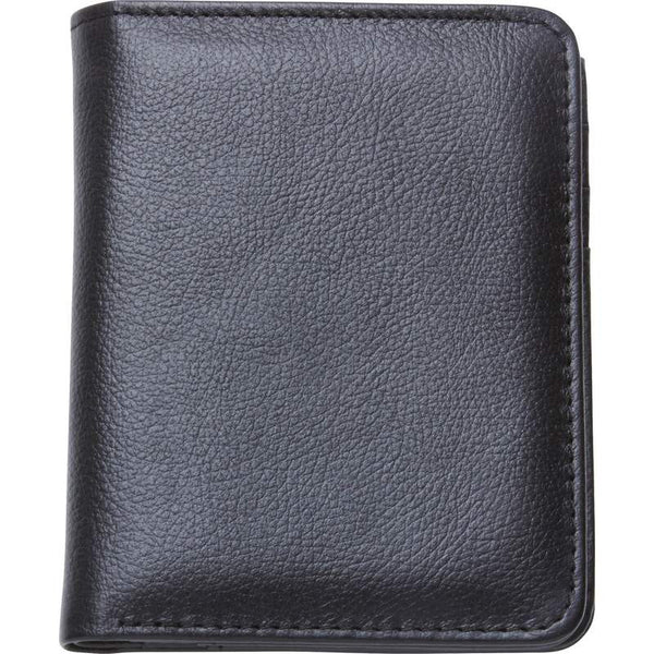 Men's Solid Genuine Buffalo Leather Tri-Fold Wallet - Leather Wallet Large Purse Shop