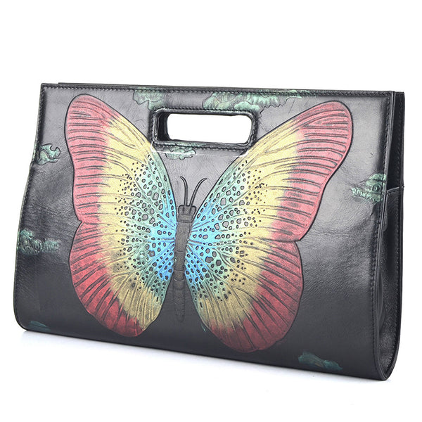 Designer Leather Purses Embossed  With Prints and Appliqués - Designer Inspired Handbags Large Purse Shop