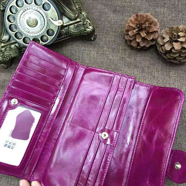 Designer Trifold Women's Leather Wallet