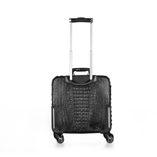 Crocodile Leather Luggage Trolley and Laptop Bag - Crocodile leather Large Purse Shop