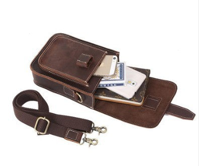 Designer Leather Waist Bag / Sling Bag For Men - Leather Man Bags Large Purse Shop