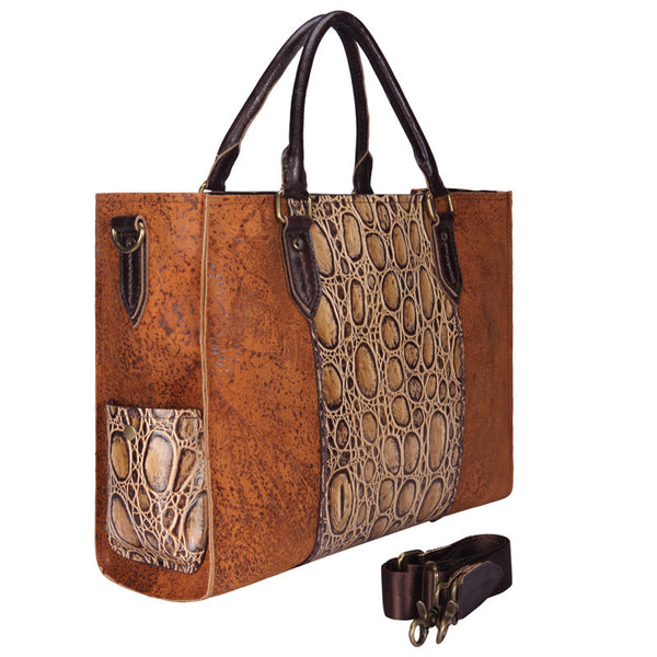 Designer Khaleesi Brown Italian Leather Tote