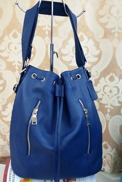 Designer Genuine Leather Bucket Bag & Backpack - Designer Inspired Handbags Large Purse Shop