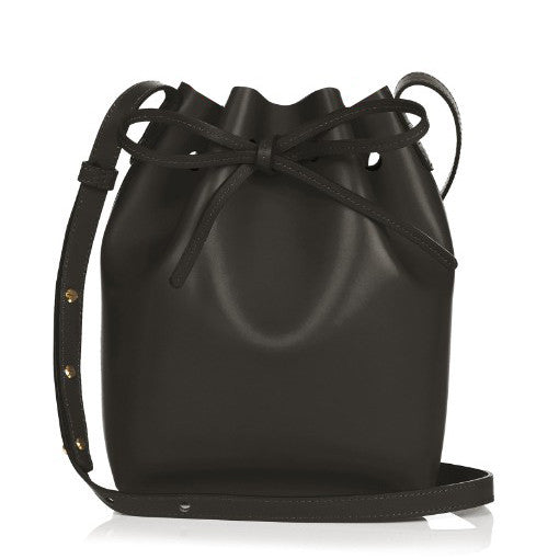 Designer Drawstring Leather Barrel Bag  - 2 Sizes