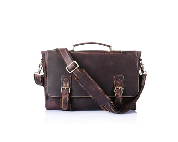 """Designer Inspired"" Leather Messenger Bag - Leather Man Bags Large Purse Shop"