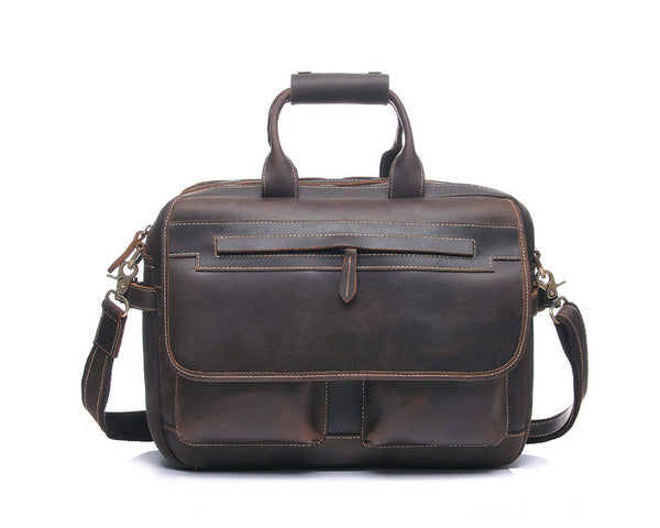 """Designer Inspired"" Distressed Leather Briefcase - Leather Briefcase Large Purse Shop"