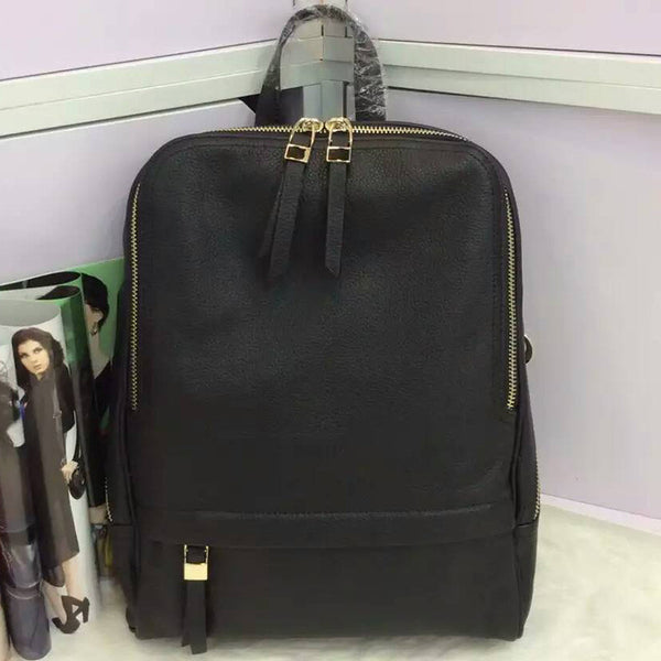 """Designer Inspired"" Trendy Leather Backpack - Leather Backpack Large Purse Shop"