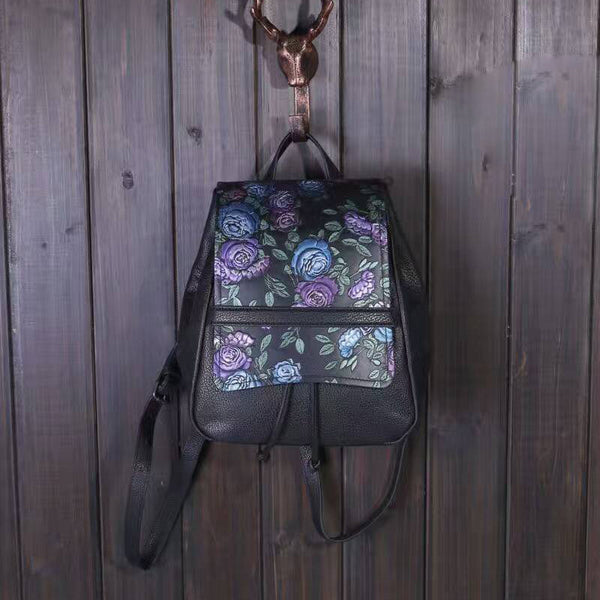 Designer Drawstring Handcrafted Leather Backpack - Leather Backpack Large Purse Shop