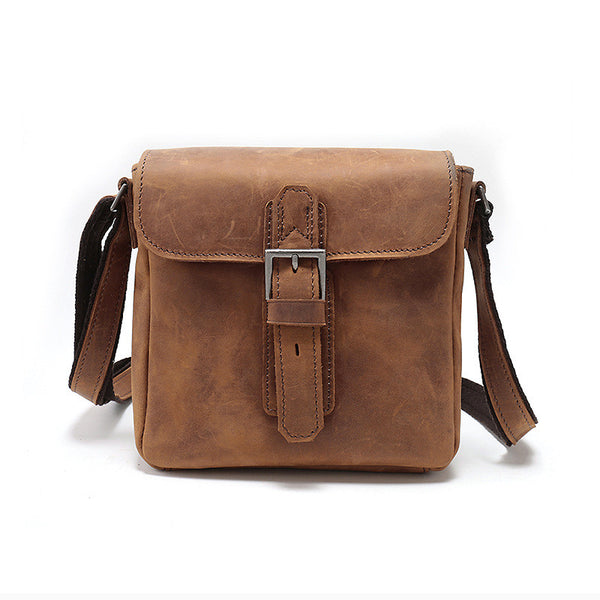 Designer Leather Man Bag with Push Lock