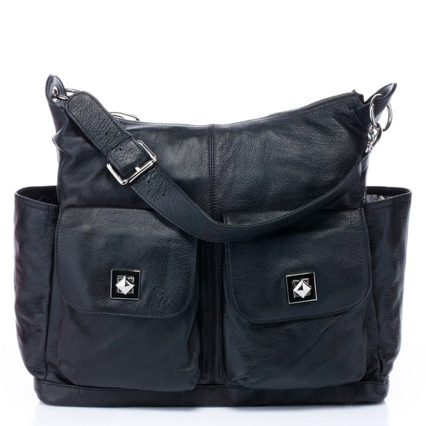 Designer Soft Italian Leather Diaper Bag