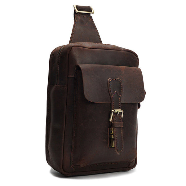 Designer Leather Chest Bag For Men