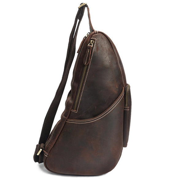 Designer Leather Chest Bag  - Sling Bags
