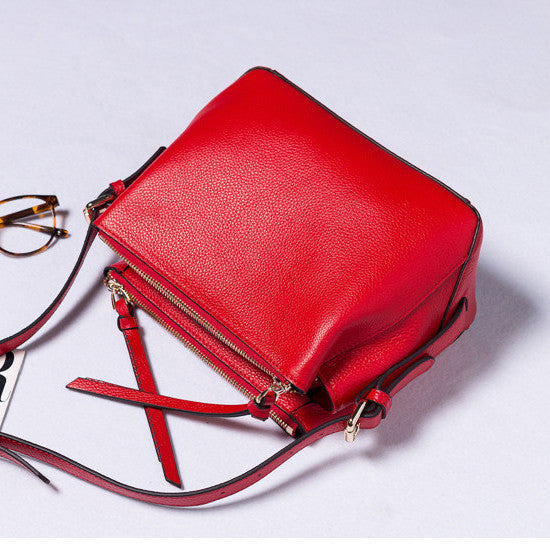Designer Pretty Leather Cross Body Bag - Designer Inspired Handbags Large Purse Shop