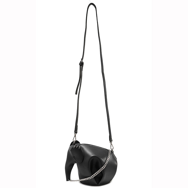 Designer Elephant Shaped Leather Shoulder Bag