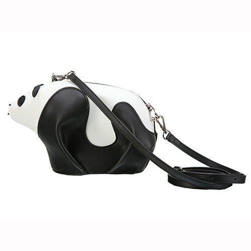 Designer Panda Shaped Leather Shoulder Bag