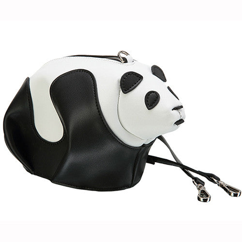 Designer Panda Shaped Leather Shoulder Bag - Designer Inspired Handbags Large Purse Shop