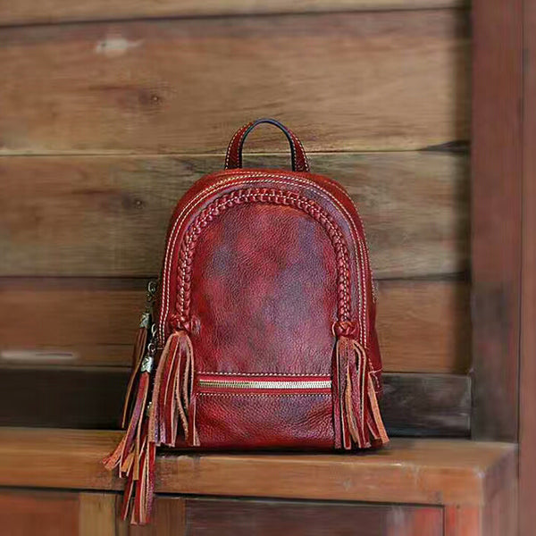 Designer Handmade Leather Backpack For Women