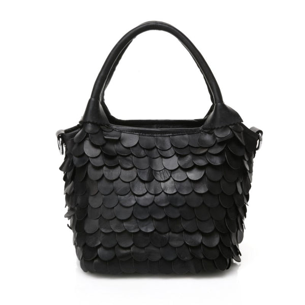 Designer Patchwork Leather Tote Bag