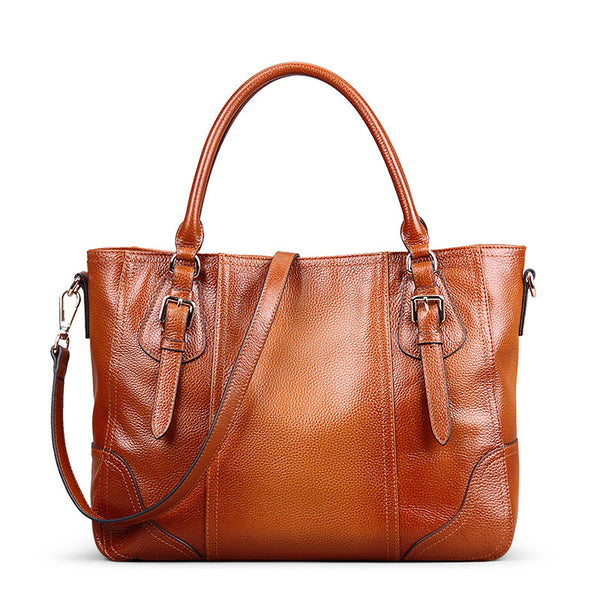 Designer Kice Brown Italian Leather Tote