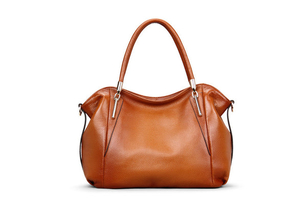 """Designer Inspired"" Italian Leather Shoulder Bag - Italian Leather Handbags Large Purse Shop"