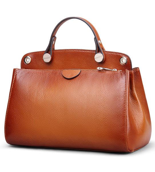 """Designer Inspired"" Large Leather Tote Handbag - Designer Inspired Handbags Large Purse Shop"