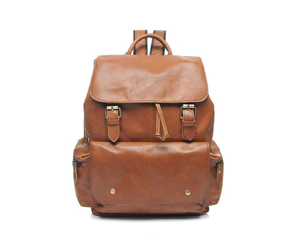 Designer Drawstring Leather Backpack - Leather Backpack Large Purse Shop