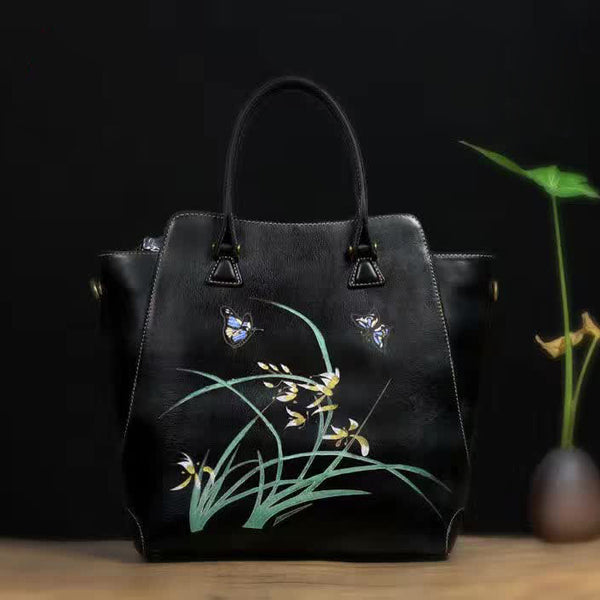 Designer Handcrafted Italian Leather Tote Bag