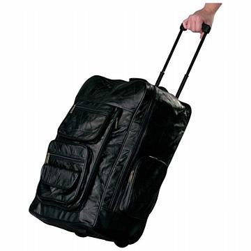Italian Stone Design Genuine Leather Super-Deluxe Trolley/Backpack - Black - Leather Backpack Large Purse Shop