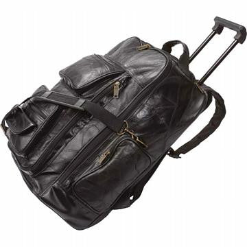 Italian Stone Design Genuine Leather Trolley/Backpack - Black - Leather Backpack Large Purse Shop