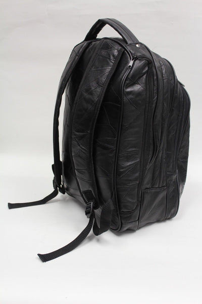 Genuine Leather Laptop Bag / Backpack - Italian Stone Design - Leather Backpack Large Purse Shop
