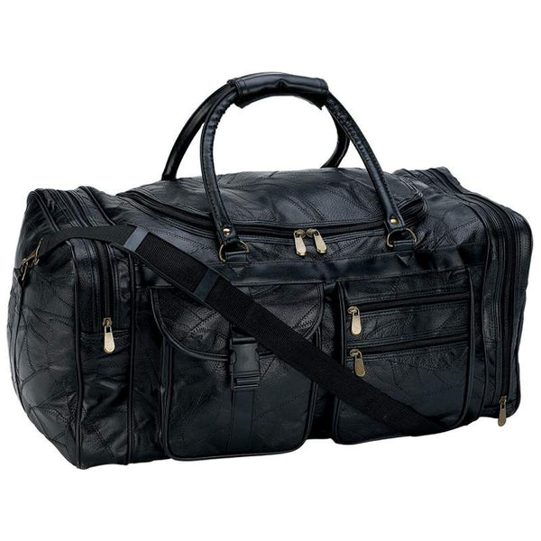Italian Stone Design Genuine Leather Hand Luggage Duffel Bag - Leather Hand Luggage Large Purse Shop