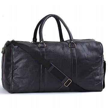 Italian Stone Design Hand-Sewn Pebble Grain Genuine Leather Hand Luggage Duffel Bag - Leather Hand Luggage Large Purse Shop