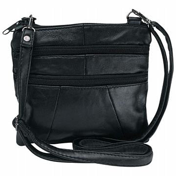Solid Genuine Leather Purse - Black - Large Purse Large Purse Shop