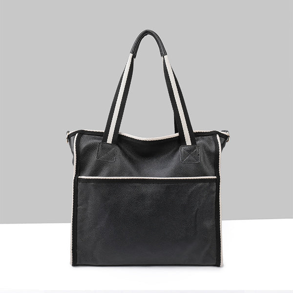 Designer Practical Leather Shopping Bag / Tote