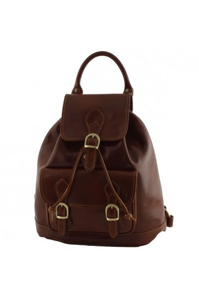 """Made In Italy"" Leather  Backpacks - Bismarck - Leather Backpack Large Purse Shop"