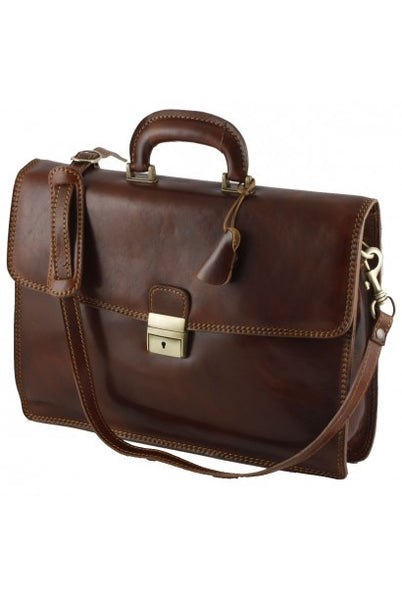 """Made In Italy"" Italian Leather Briefcase - Hyde Park - Leather Briefcase Large Purse Shop"