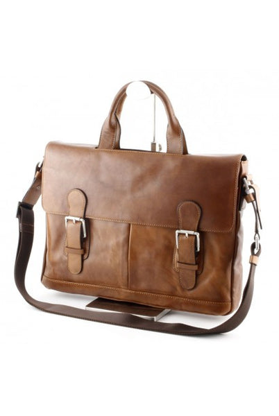 """Made in Italy"" Ladies Leather Briefcase"