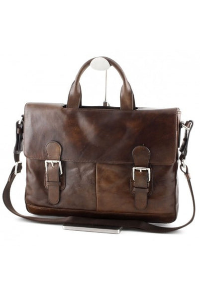 """Made in Italy"" Ladies Italian Leather Briefcase - Leather Briefcase Large Purse Shop"