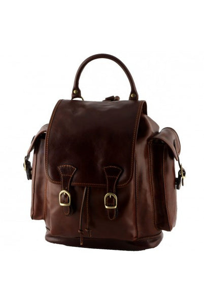 """Made In Italy""  Leather Backpacks - Crichton - Leather Backpack Large Purse Shop"
