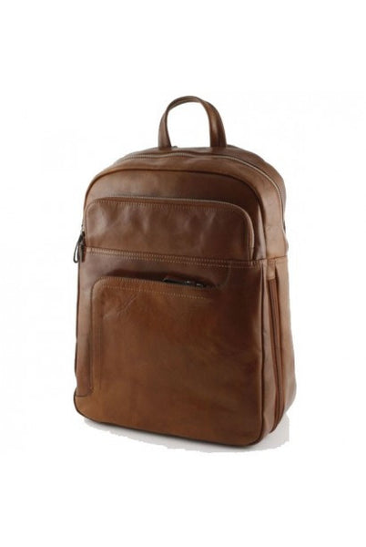 """Made In Italy"" Leather Backpack - The Rosendal - Leather Backpack Large Purse Shop"