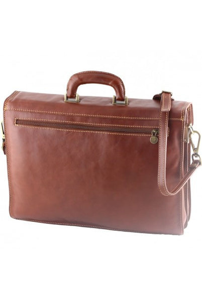 """Made in Italy"" Leather Briefcase  - Palmengarten - Leather Briefcase Large Purse Shop"
