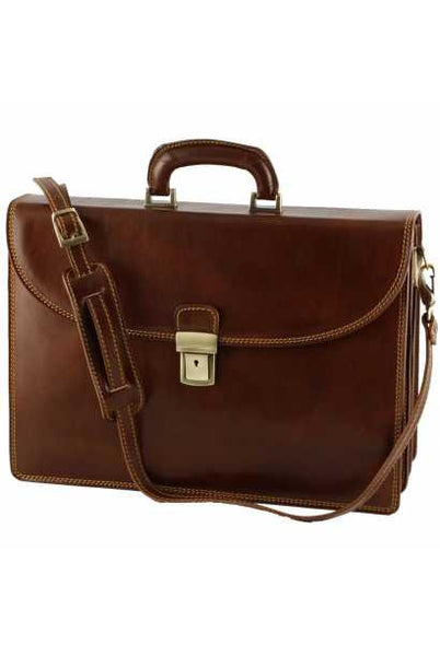 """Made In Italy"" Leather Briefcase - Palaeur - Leather Briefcase Large Purse Shop"