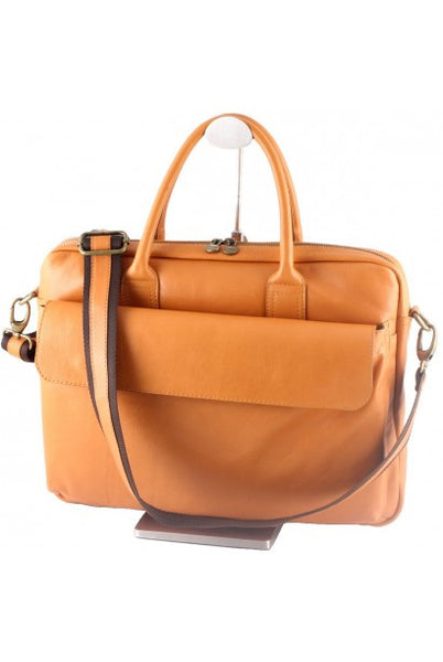 """Made In Italy"" Leather Briefcase, Laptop Bag - Moma I - Leather Briefcase Large Purse Shop"