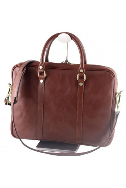 """Made In Italy"" Leather Briefcase, Laptop Bag - Flinders -  - Large Purse Shop - 1"