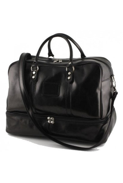 """Made In Italy"" Leather Hand Luggage Bag - Valencia City Hall - Leather Hand Luggage Large Purse Shop"