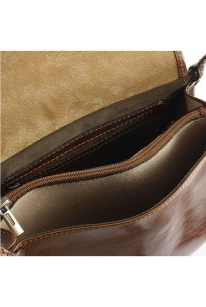 """Made In Italy"" Leather Shoulder Bag - Maison du Roi - Italian Leather Handbags Large Purse Shop"