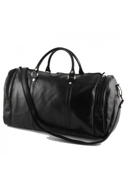 """Made In Italy"" Leather Hand Luggage - Torres de Quart - Black - Large Purse Shop - 4"