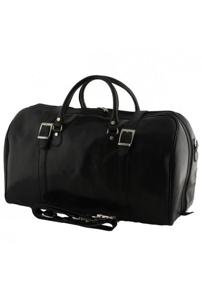 """Made In Italy"" Leather Hand Luggage Bag - Piccadilly Circus - Black - Large Purse Shop - 3"