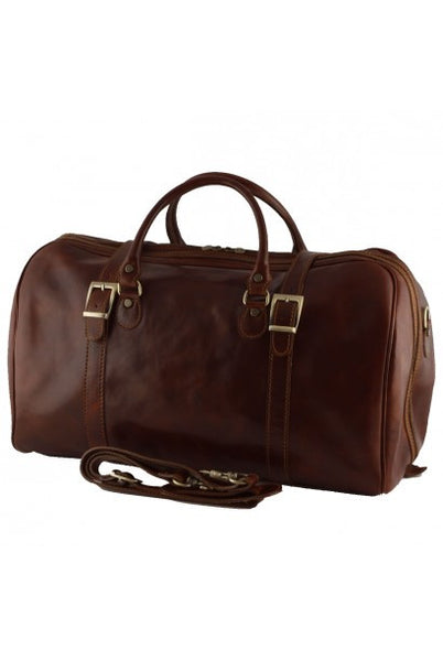 """Made In Italy"" Leather Hand Luggage Bag - Piccadilly Circus - Light Brown - Large Purse Shop - 5"